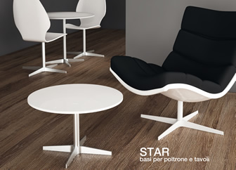 Star: bases for chairs and tables